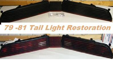 BLACK FRIDAY 1979 1980 1981 Trans Am Firebird Tail Light RESTORATION SERVICE