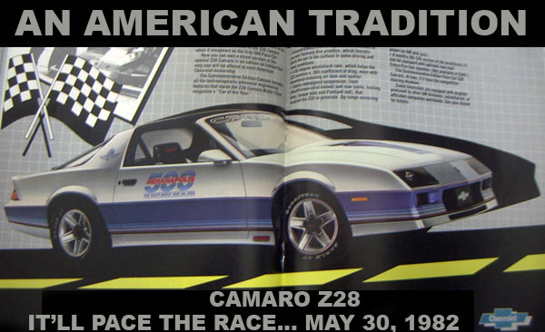 Gm Fbody Pace Car Registry 1982 Camaro Z28 Indianapolis