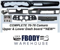 1970 1971 1972 1973 Camaro Dashboard Trim Parts