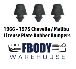 1966 - 1975 Chevelle / Malibu  License Plate Bumper Set NEW 3 pc