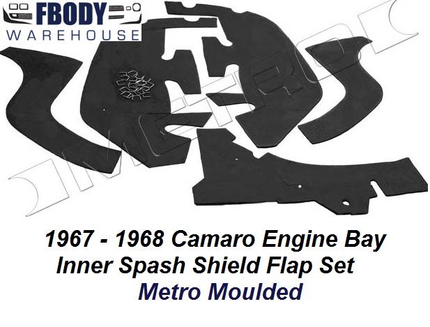 1967 - 1968 Camaro Engine Bay Splash Shield Flap Kit  Camaro Rs Engine Bay Diagram on