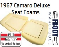 1967 Camaro New Replacement Seat Foam Front Buckets