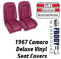 1967 Camaro DELUXE Bucket Front Seat Covers Pair