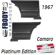 1967 Camaro Standard Rear Interior Panels Hard Top 5 Colors Available w/ Chrome PLATINUM EDITION