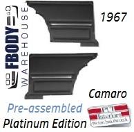 1967 Camaro Standard Rear Interior Panels Hard Top 5 Colors Available w/ Chrome PLATINUM EDITION Assembled