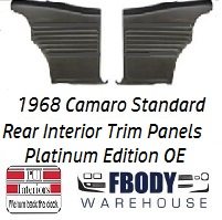 1968 Camaro Standard Rear Interior Panels Hard Top 5 Colors Available PLATINUM EDITION