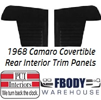 1968 Camaro Convertible Standard Rear Interior Panels Hard Top 5 Colors Available