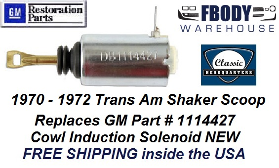 The Parts Place Firebird Trans Am Shaker Scoop Actuator Solenoid