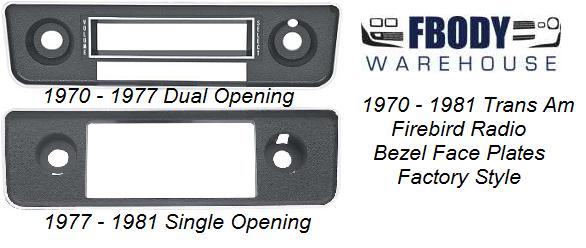 Trans Am Radio Face Plate Bezel Fbodywarehouse