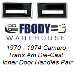 1970 - 1974 Camaro Trans Am Inner Door Handles NEW OER