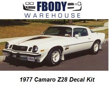 1977 Camaro Z28 Body Decal Kit