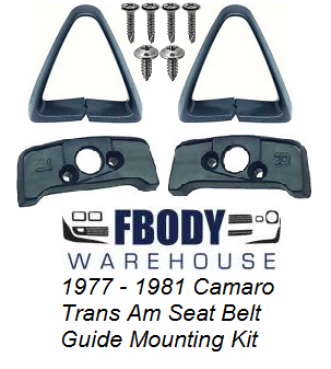 1970 1981 Camaro And Trans Am Seat Belt Guide Set Full