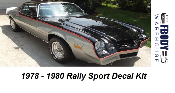 1978 1979 1980 Camaro Rally Sport Decal Kit