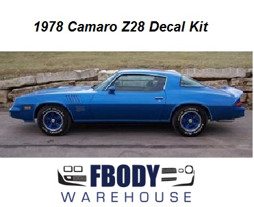 1978 Camaro Z28 Decal kit All factory Colors