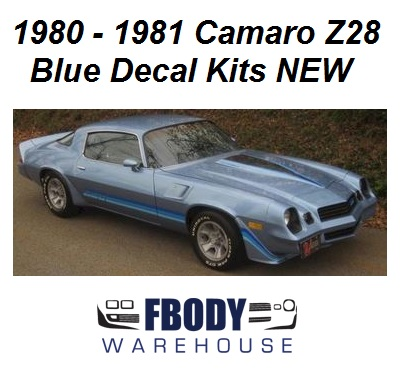 1980 1981 camaro z28 decal kit all factory colors!