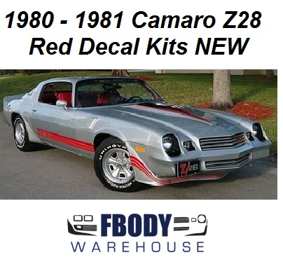 Camaro Z Silver With Red Decal Kit New Fbodywarehouse