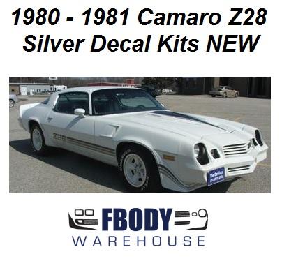 1980 1981 camaro z28 decal kit all factory colors rh fbodywarehouse com