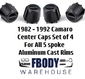 1982 - 1992  Camaro Standard Center Caps Set NEW Set of Four