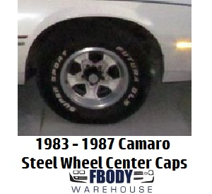 1983 - 1987  Camaro Standard STEEL WHEEL Center Caps Set NEW Set of Four