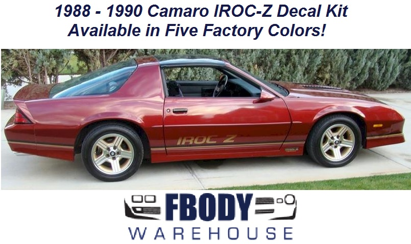 1988 1990 Camaro Iroc Z28 Decal Kit 5 Colors Available