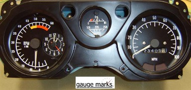 1975 - 1981 Trans Am Gauge Face Inlays 100 MPH 6 K