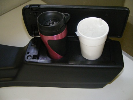 Travel mugs and even larger fast food drink friendly!