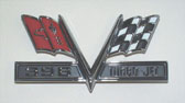 1967 Camaro Fender Embelms (Pair) 396 Turbo Jet Cross Flags