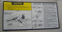 1981 1982 Trans Am Firebird Jacking Instruction Decal