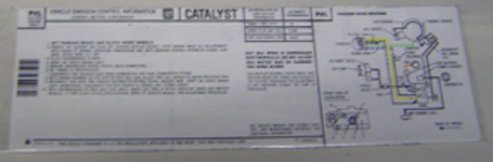 1981 Turbo Trans Am Emissions Decal 4.9 Auto