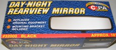 Camaro Trans Am Replacement Rear View Mirror BLACK Backer 10 Inch Style