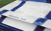 1969 Trans Am Rear Spoiler Decal Blue