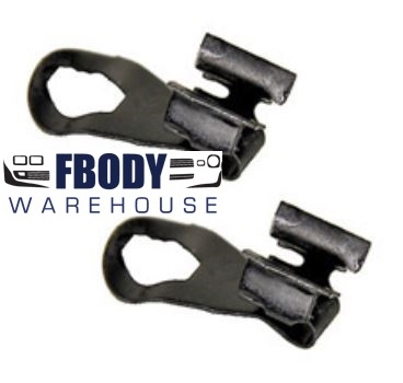 1967 - 1969 Camaro Firebird Door Opening Rod Retaining Clip PAIR
