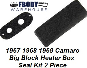 1967 - 1969 Camaro NON A/C Seal Kit 2 Pc Big Block