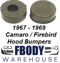 1967 - 1969 Camaro Firebird Hood Bump Stop Kit 2 pc