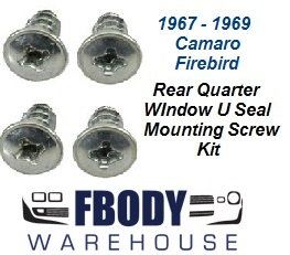 1967 - 1969 Camaro Firebird Door Jam Weather Seals U Seal Mounting Screw Kit