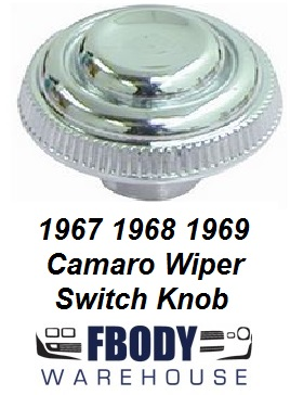 1967 -1968 Camaro Dash Windshield Wiper Knob