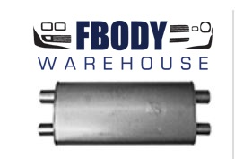 1967 - 1969 Camaro / Firebird Crossflow Muffler NEW