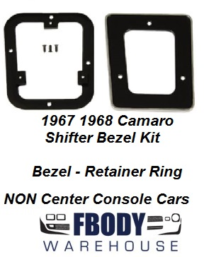 1967 1968 Camaro NON Center Console Shift Plate & Retainer Ring Set