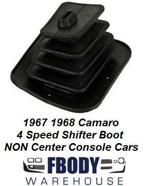 1967 1968 Camaro NON Center Console Rubber Upper Shift Boot Accordion Style NEW