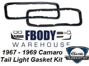 1967 - 1968 Camaro Tail Light Gaskets Pair by Classic Headquarters