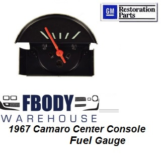 1967 Camaro Center Console Mounted Fuel Gauge