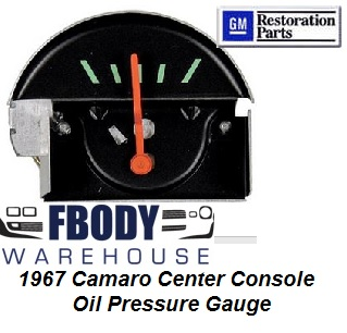 1967 Camaro Center Console Mounted Oil Pressure Gauge