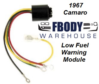 1967 Camaro Center Console Fuel Gauge Low Fuel Warning Module