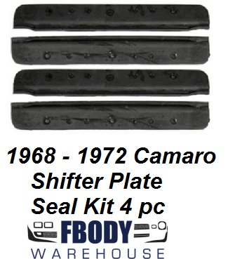 1968 - 1972 Camaro Center Console Shifter Bezel Plate Seal Kit 4 piece