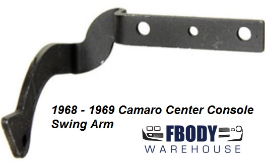 1968 - 1969 Camaro Center Console Bin Swing Arm