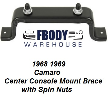 1968 - 1969 Camaro Center Console Mounting Bracket with Hardware (CLON)
