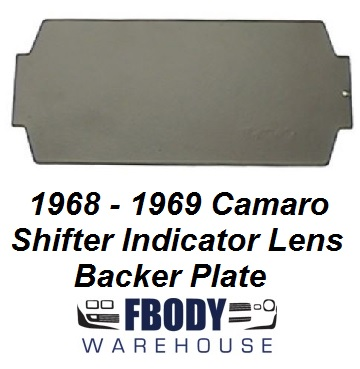 1968  1969 Camaro Center Console Shifter Indicator Lens Back Plate
