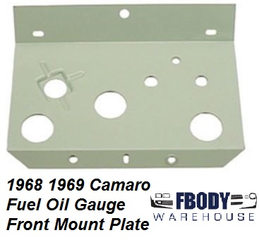 1968 - 1969 Camaro Center Console Oil / Fuel Gauge Front Mounting Plate