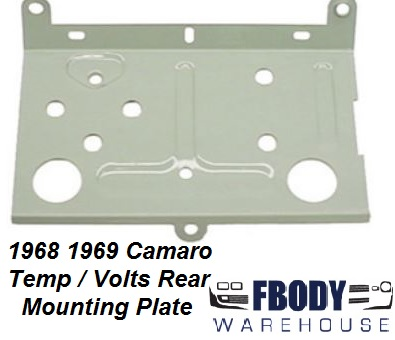 1968 - 1969 Camaro Center ConsoleTemp / Volts Gauge Rear Mounting Plate
