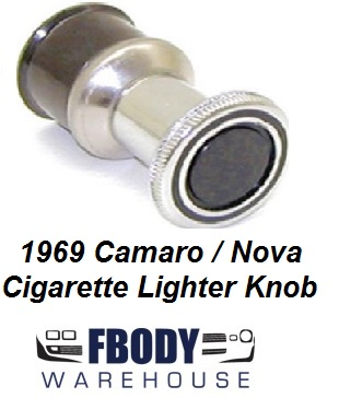 1969 Camaro Cigarette Lighter Pull Knob Only